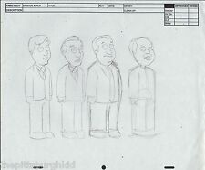 NICE Family Guy CONCEPT Art Character Model Sheet Pencil Drawing FOX TV