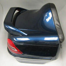 New Motorcycle Scooter Tail Box Luggage Bag Back Trunk Top Case Blue