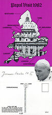 1982 PAPAL VISIT TO THE UK LIMITED EDITION MINT POSTCARD BY VELDALE