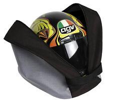 Borsa porta casco per moto  tracolla e tasca porta guanti 38x28x20 cm nero