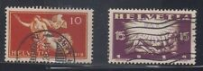 Switzerland Stamps 1919 10c Peace & 15c violet 'Dawn of Peace'. Very fine used