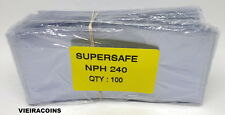 1000  SUPERSAFE SEMI-RIGID  MODERN SIZE CURRENCY SLEEVE  HOLDERS - #309