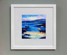 FRASER MILNE 'SUMMER AFTERNOON, THE ISLE OF GIGHA' FRAMED SIGNED PRINT