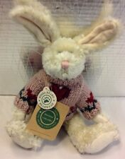Boyds Bears Plush White Rabbit Hare Bunny Bear wear Stuffed Animal Toy