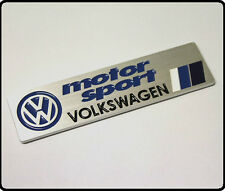 VW Motorsport CAR BADGE EMBLEMA ADESIVO DECALCOMANIA in Metallo Golf Polo GTI r32 r20 110 TDI