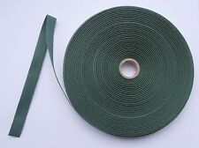 "4m PIECE 1/2"" FOREST GREEN COTTON TAPE RIBBON TRIM EDGING BINDING BUNTING CRAFT"