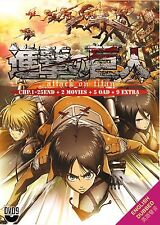 DVD Attack on Titan Vol 1-25End + 2 Movies + 5OAD + 9 Extra ENGLISH AUDIO