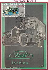 ITALIA MAXIMUM MAXI CARD PRIMO CAMION FIAT LORRIES TRUCK STORY 1983 TORINO C262