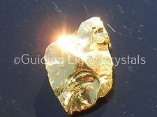ONE RARE & POWERFUL PURE 24KT GOLD AURA PHENACITE/PHENAKITE CRYSTAL! BRAZIL! 5/8