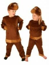Kids Plush Head Monkey Animal Book Week Fancy Dress Costume Age 5-8 Years P6707