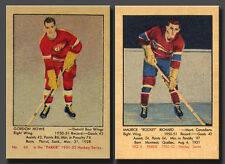 Gordie Howe & Maurice Richard Rookie (2 Card Combo) Reprint Parkhurst 1951-52