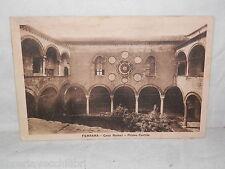 Vecchia cartolina foto d epoca di Ferrara casa Romel primo cortile Lunghini
