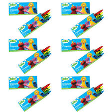 SESAME STREET Stars 4-PACK CRAYONS (12) ~ Birthday Party Supplies Favors Elmo