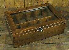10 Slot Classic Vintage Wood Watch Box Display Case Organizer Jewelry Storage