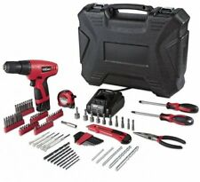 12 Volt Cordless Electric Power Lithium-Ion Drill Driver 100 piece Home Kit Set