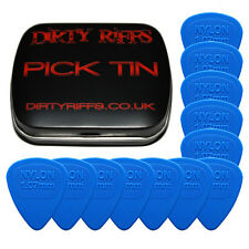 12 X Dunlop Nylon Midi Guitar Picks plectrums - 1070 mm azul en un práctico Pick Tin