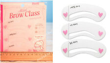 Fashion 3rd Mini Eye Brow Class Drawing Guide Stencils 3 Different Shape Frame