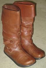 Earth Kalso Adage Womens Negative Heel Brown Leather Mid Calf Boots Size 7.5 B