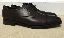 Ermenegildo Zegna XXX Napoli Couture Brown Leather Cap Toe Derby Size 11EU/12US