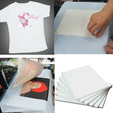 Heat TRANSFER PAPER 10pcs A4 Iron on T-Shirt for DARK fabrics Inkjet Printer gh