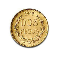 2 pesos or Mexique 1945 Gold coin Mexico