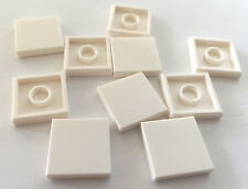 *NEW* 10 Pieces Lego SMOOTH TILE 2x2 WHITE 3096