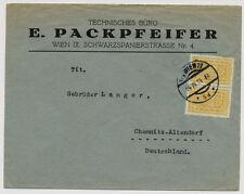 1924 AUSLANDSBRIEF, WIEN nach CHEMNITZ-ALTENDORF (Deutschland)