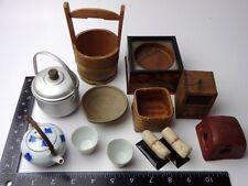Miniature Vintage Japanese Primitive kitchenware Heater Pair Pillow Lot