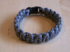 Paracord Survival Bracelet Wristband Cobra Stitch 550lb Para Cord Digital ACU