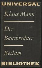 Klaus Mann Der Bauchredner Erzählungen Die Jungen Wert der Ehre Suzanne Cobiere