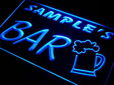 pv-tm Name Personalized Custom Home Brew Bar Beer Mug Glass Neon Light Sign