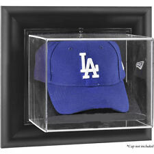 Baseball Cap Display Case Wall Mounted With Choice Of Wood Or Black Frame