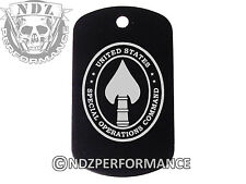 Dog Tag Military ID K9 Customized Laser Engraved BLK SOCOM Spec Ops