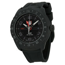Luminox 5021.GN Men's Space GMT Black Silicone and Dial