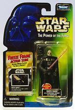 MOC STAR WARS Darth Vader w/ Removable Helmet POTF Freeze Frame Slide Figure .00
