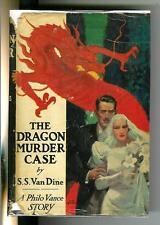 THE DRAGON MURDER CASE by Van Dine, rare US Scribners 1st crime hardcover in DJ