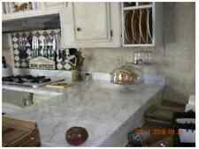 Faux White Marble Countertop Film 3ft x 6ft