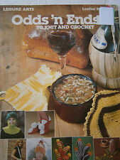 Odds 'n Ends to Knit and Crochet Pattern Book Golf Club Covers Purse Hat Slipper