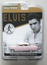 ELVIS PINK 1955 CADILLAC FLEETWOOD 60 HOLLYWOOD GREENLIGHT DIECAST 1/64 R 14