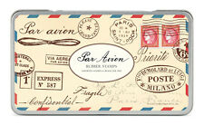Cavallini & Co Par Avion Stamp Set, Rubber Stamps, Crafts, Airmail, Postage