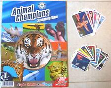 Ferrero Sammelbilder Animal Champions 42 Stück+9 Sammelkarten+Sammelalbum , leer