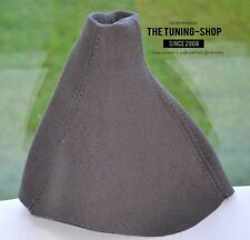 FOR VAUXHALL OPEL CORSA D GEAR GAITER GRAPHITE SUEDE FAUX COVER BOOT NEW