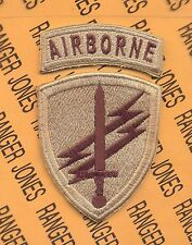 US Army Civil Affairs & Psychological Operations Cmd. Airborne DESERT DCU patch