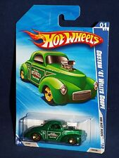 Hot Wheels 2010 Hot Rods Series #139 Custom '41 Willys Coupe  Kmart Green w 5SPs