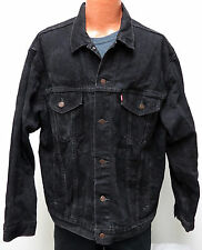 vtg Levi's BLACK Jean Jacket 90s Men XL denim trucker 70507-4159 usa 1997 Biker