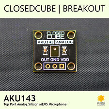 ClosedCube AKU143 Top Port Analog Silicon MEMS Microphone Breakout