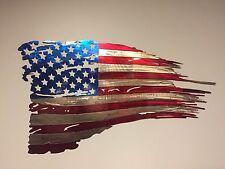 USA Flag USA Plasma Cut Metal Wall Art Hanging Home Decor America 36x20