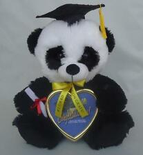 """Graduation Panda with Cap, Diploma & Solid Brass Picture 10"""" Inches New with Tag"""