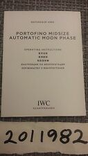 IWC Watch Manual Instruction Booklet Portofino Midsize Automatic Moon Phase 4590