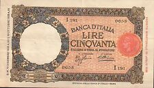 BANCONOTA DA 50 LIRE - Lupa capitolina - margine largo (Roma) (7)